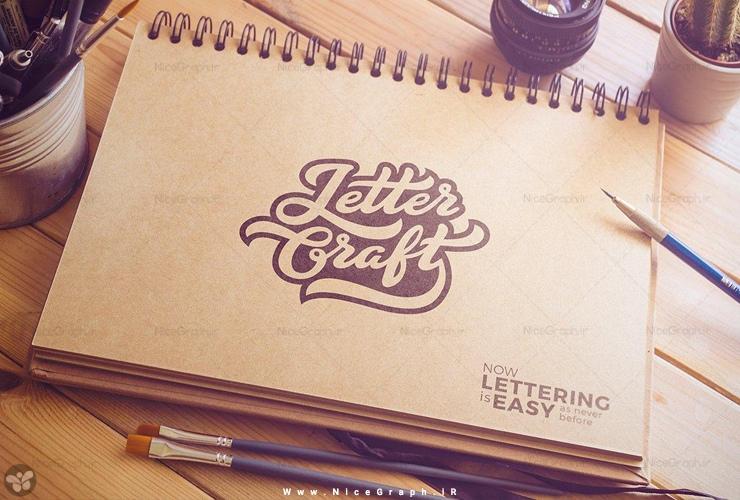 دمو 1 فونت انگلیسی تایپوگرافی Letter Craft