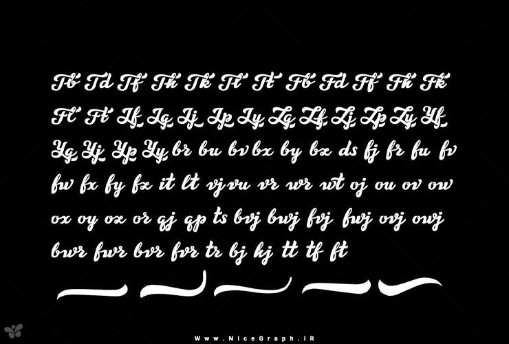 دمو 8 فونت انگلیسی تایپوگرافی Letter Craft